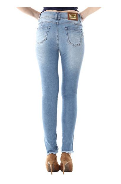 Calça Jeans Feminina Cigarrete Intermediaria - 255247