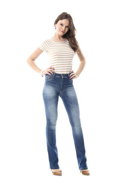 Calça Jeans Feminina Flare Boot Cut- 255631Calça Jeans Feminina Flare Boot Cut- 255631