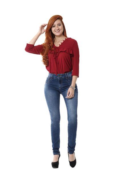 Calça Jeans Feminina Skinny Intermediaria - 255327