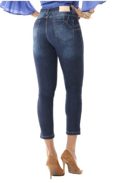 Calça Jeans Feminina Cropped Levanta Bumbum - 255652