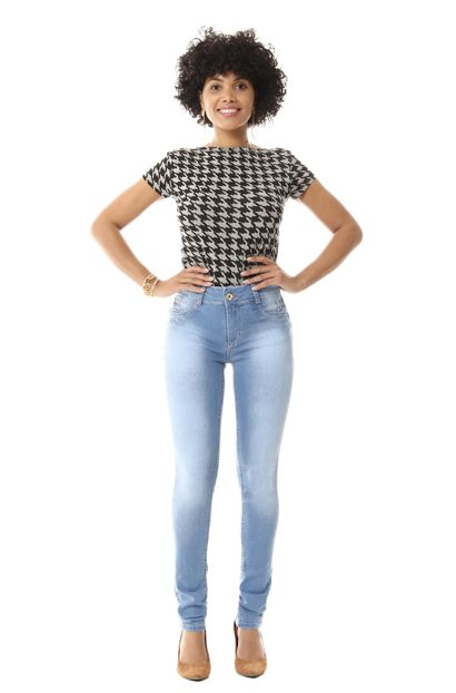 Calça Jeans Feminina Skinny Intermediaria - 255817
