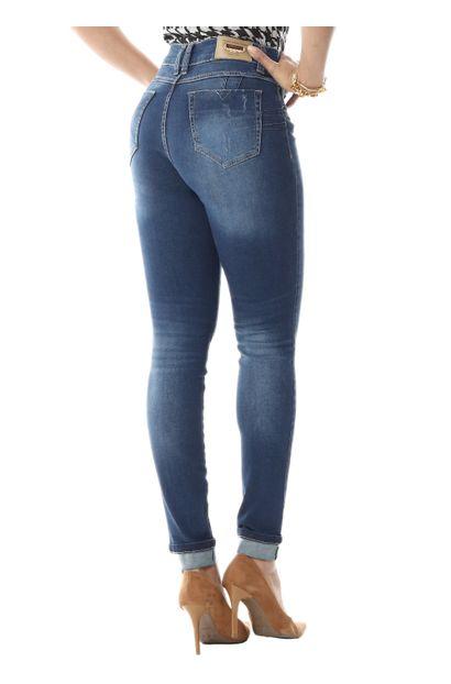 Calça Jeans Feminina Cigarrete Intermediaria - 255342