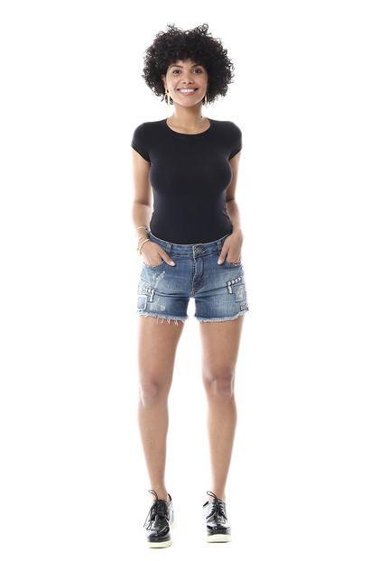 Shorts Jeans Feminino - 255662