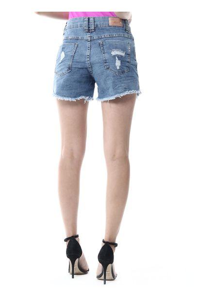 Shorts Jeans Feminino Boyfriend - 256023