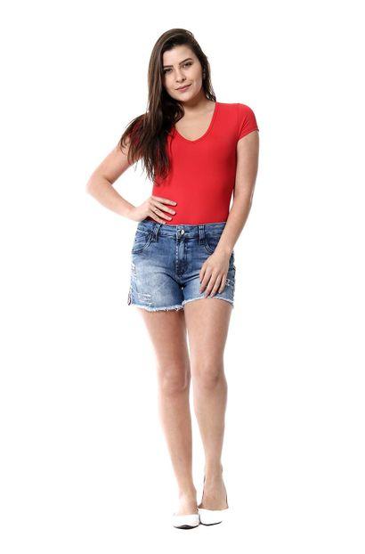 Shorts Jeans Feminino Boyfriend - 255816