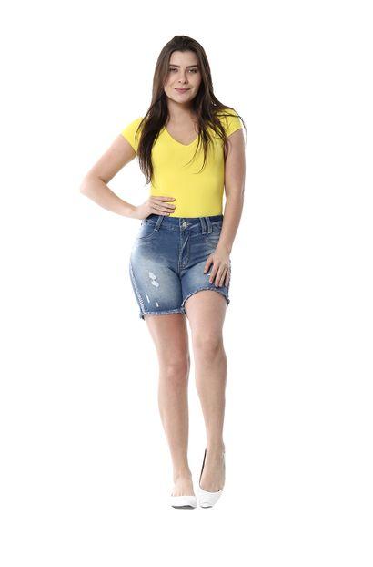 Shorts Jeans Feminino Intermediario - 256007