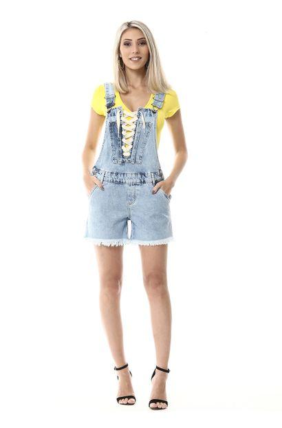 Jardineira Jeans Feminina - 255473