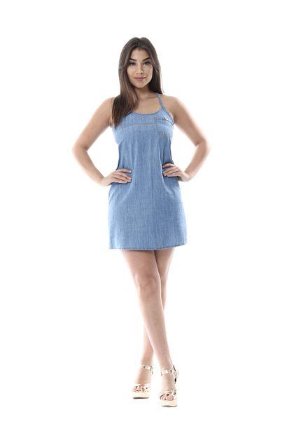 Vestido Jeans Feminino - 255432