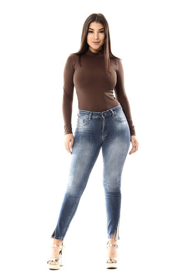 4f4a6a9a55 Calça Jeans Feminina Cigarrete Hot Pants - 255908 - SawaryB2C