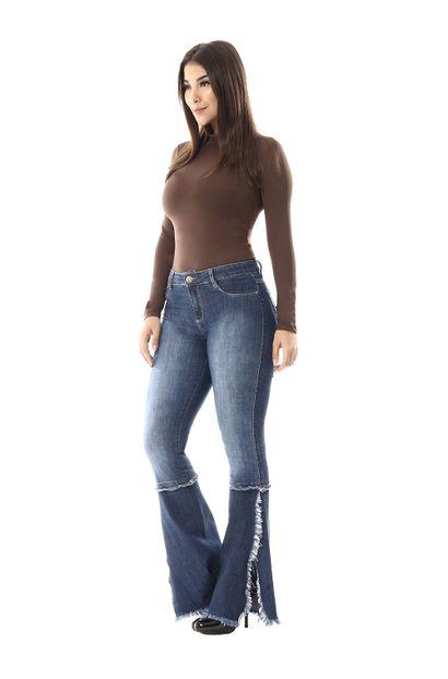 Calça Jeans Feminina Flare - 254976