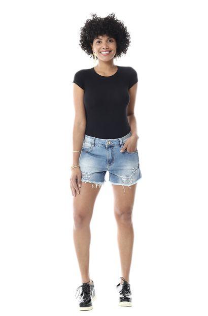 Shorts Jeans Feminino - 255926