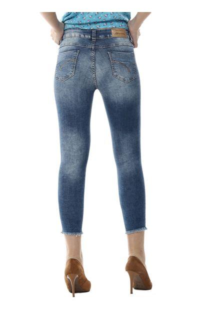 Calça Jeans Feminina Cropped - 254563