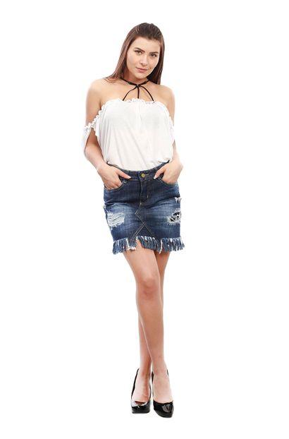 Saia Jeans Feminina - 250186