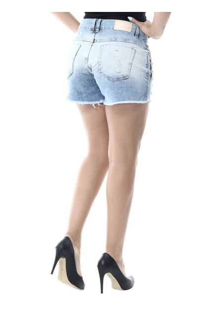 Shorts Jeans Feminino Boyfriend - 255789