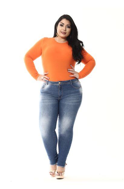 Calça Jeans Feminina Cigarrete Plus Size - 255283