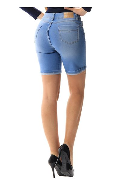 Bermuda Jeans Feminina Push Up - 256228