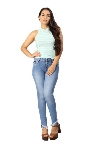 Calça Jeans Feminina Cigarrete Levanta Bumbum - 250166