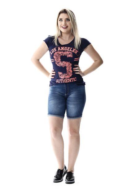 Bermuda Jeans Feminina Push Up - 256226