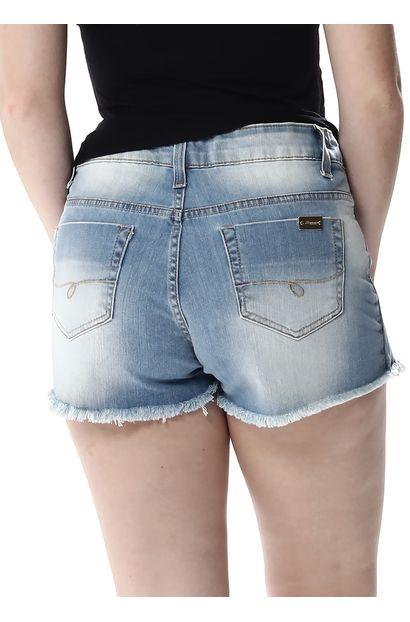 Short Saia Jeans Feminino - 256385