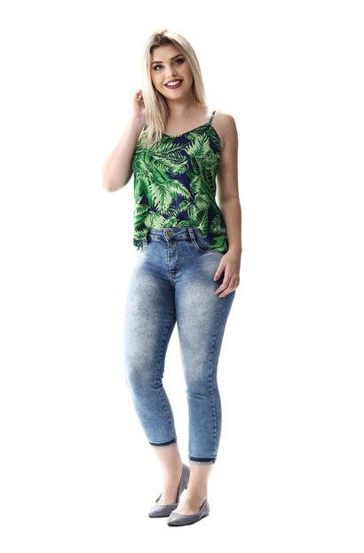 Calça Jeans Feminina Cropped Heart - 256293