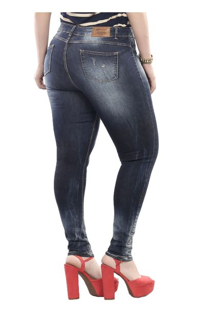 Calça Jeans Feminina Cigarrete UP Plus Size - 250512