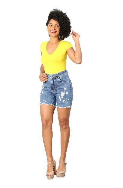 Bermuda Jeans Feminina Boyfriend - 249670