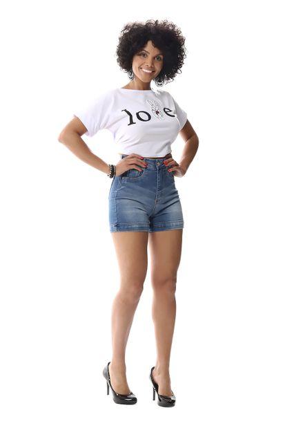 Bermuda Jeans Feminina Super Lipo - 256623