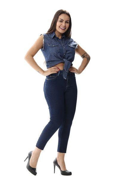 Calça Jeans Feminina Cropped Push Up - 256406