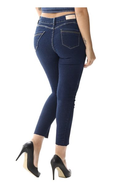 Calça Jeans Feminina Cropped Push Up - 256406