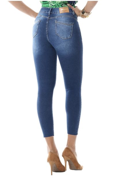 Calça Jeans Feminina Cropped Push Up - 255705