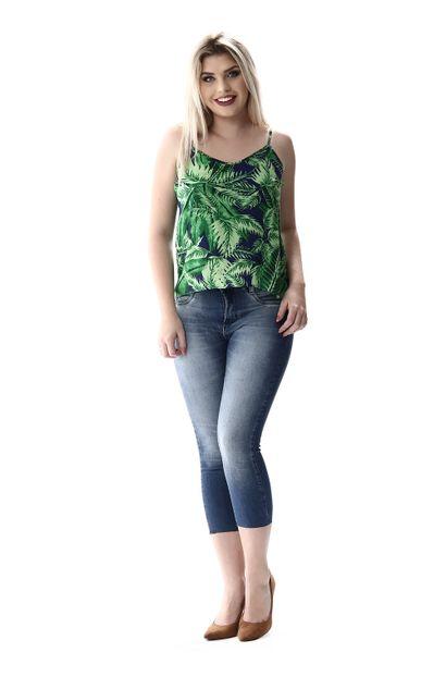 Calça Jeans Feminina Cropped - 256642