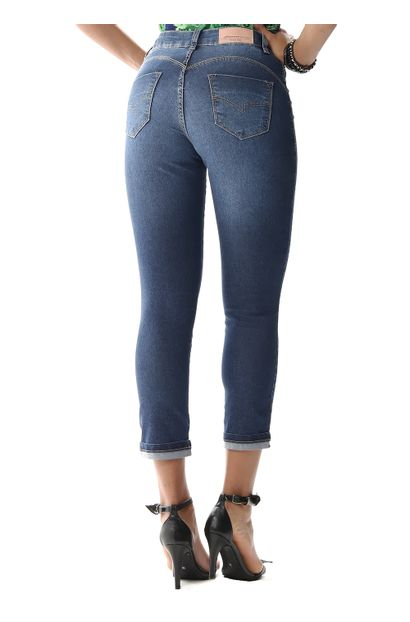 Calça Jeans Feminina Cropped - 256405