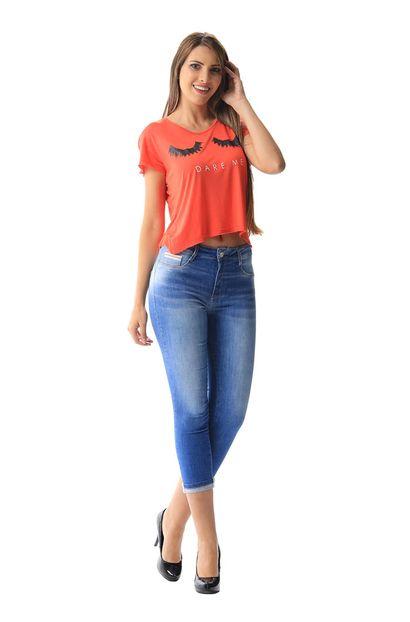 Calça Jeans Feminina Cropped - 255533