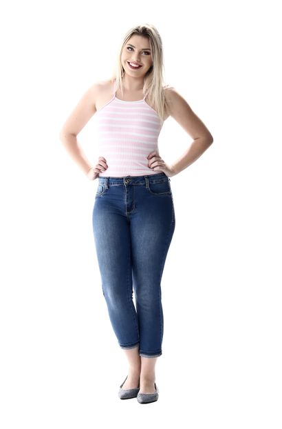Calça Jeans Feminina Cropped - 256284