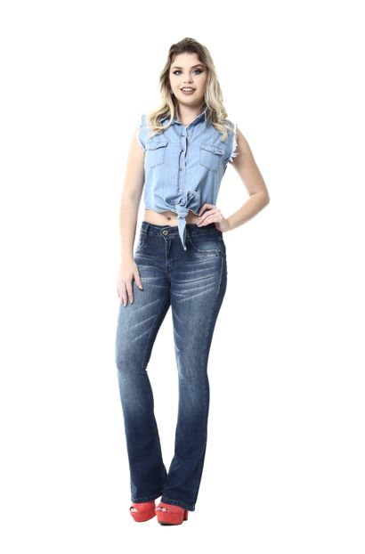 Calça Jeans Feminina Flare Intermediaria - 254520