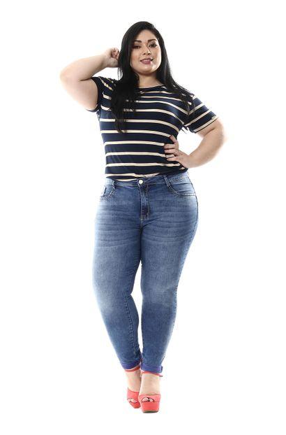 Calça Jeans Feminina Cigarrete Plus Size - 255589
