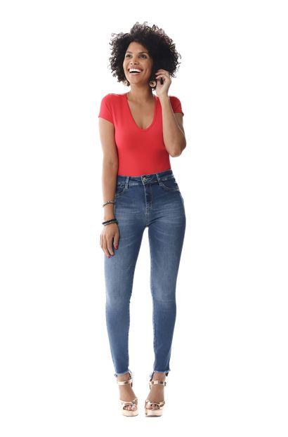 Calça Jeans Feminina Cigarrete Modela e levanta bumbum - 255978