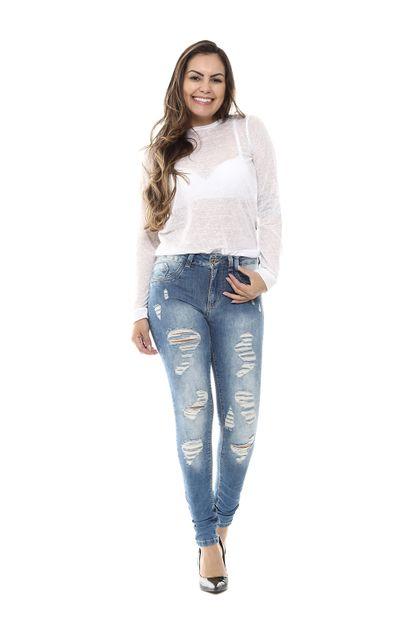 Calça Jeans Feminina Legging - 254542