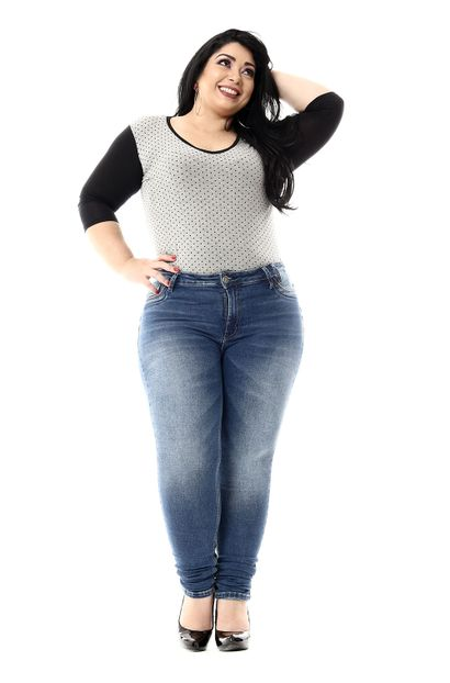Calça Jeans Feminina Skinny Plus Size - 255307