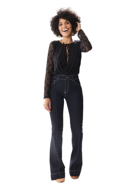 Calça Jeans Feminina Flare - 255584