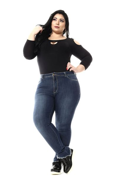 Calça Jeans Feminina Cigarrete Plus Size - 255653