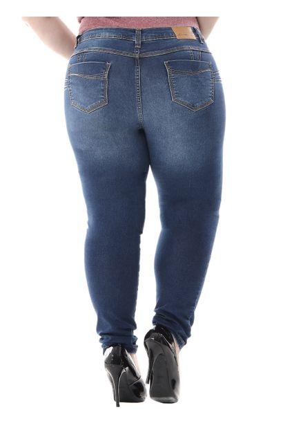 Calça Jeans Feminina Cigarrete Plus Size - 255676