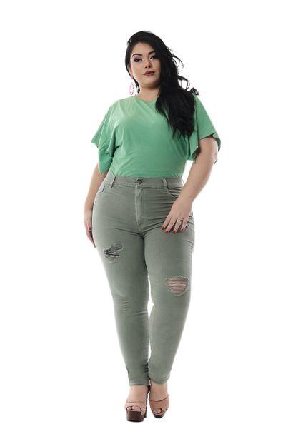 Calça Jeans Feminina Legging Plus Size - 255834