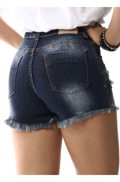 Shorts Jeans Feminino Boyfriend - 256503