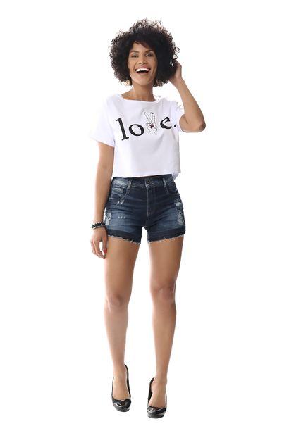 Shorts Jeans Feminino Boyfriend - 256527