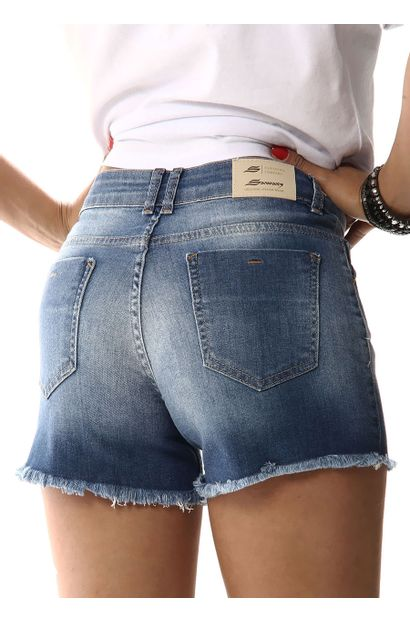 Shorts Jeans Feminino Boyfriend - 256487