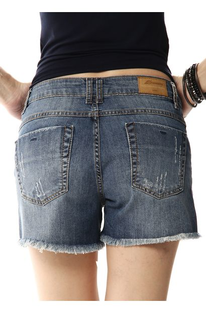 Shorts Jeans Feminino Boyfriend - 256209