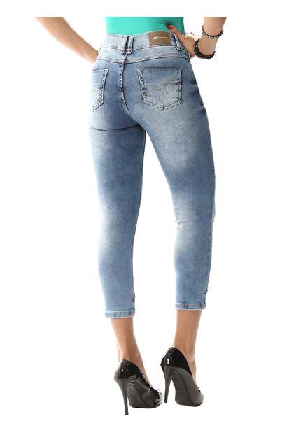 Calça Jeans Feminina Cropped - 256299