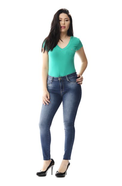 Calça Jeans Feminina Cigarrete Modela e levanta Bumbum - 256002