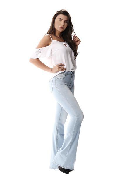 Calça Jeans Feminina Flare - 255451